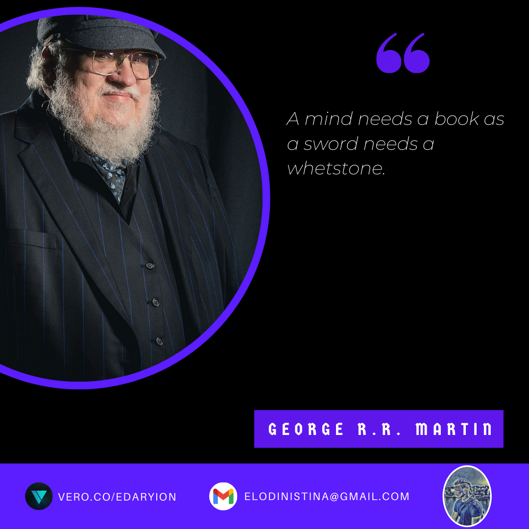 """A mind needs a book…"" – George R.R. Martin [1080×1080]"