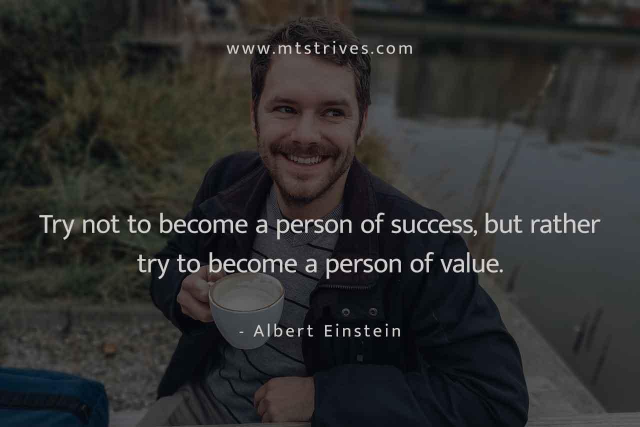 Become a person of value – Albert Einstein [1280×854] mtstrives.com