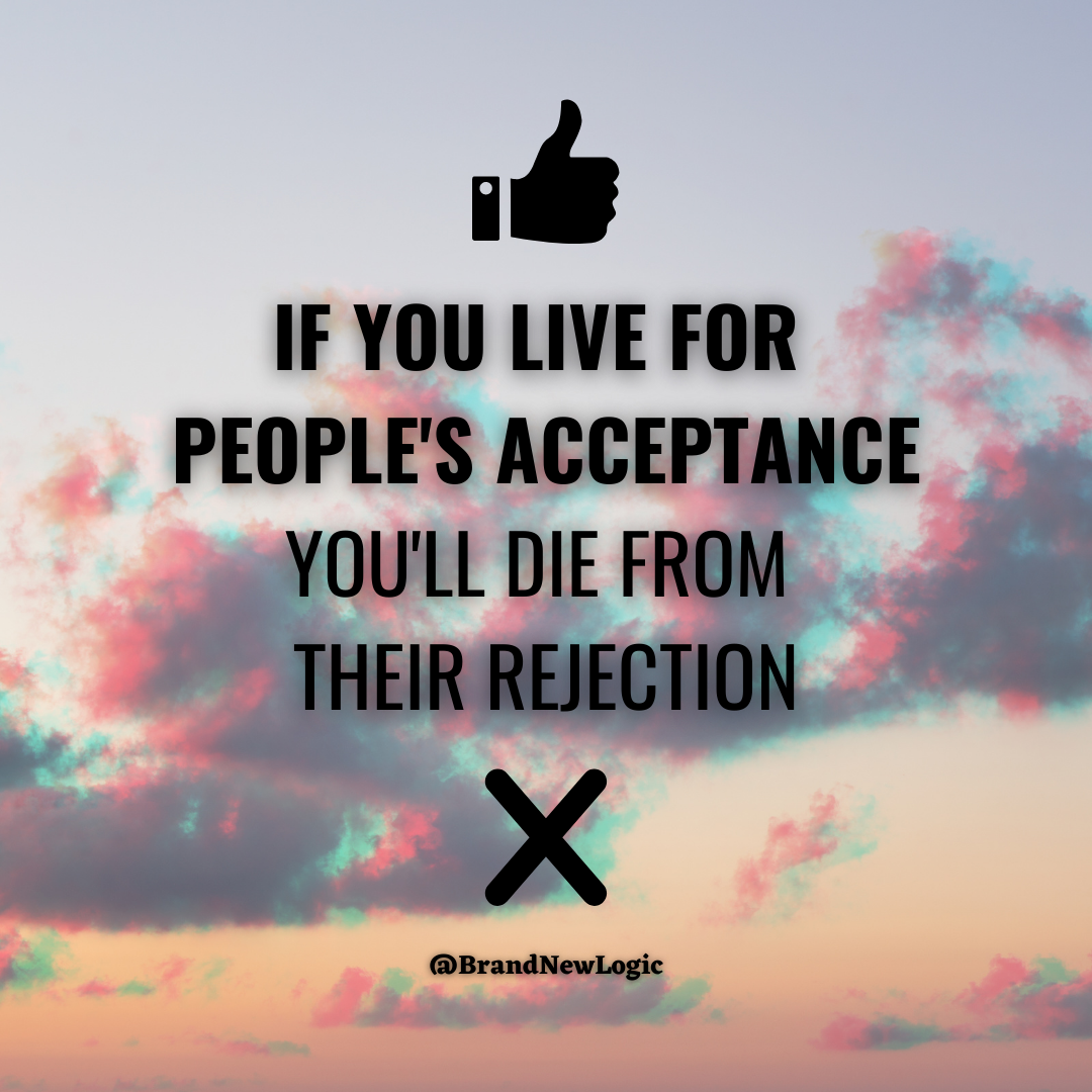 """If you live for people's acceptance you will die from their rejection"" – Lecrae Moore [1080×1080]"