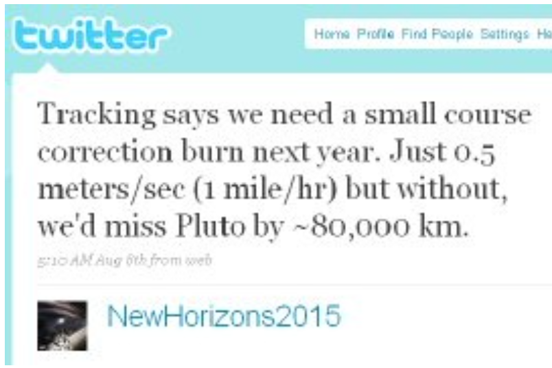 """[Image] NASA, """"Tracking says we need a small course correction next year…"""""""
