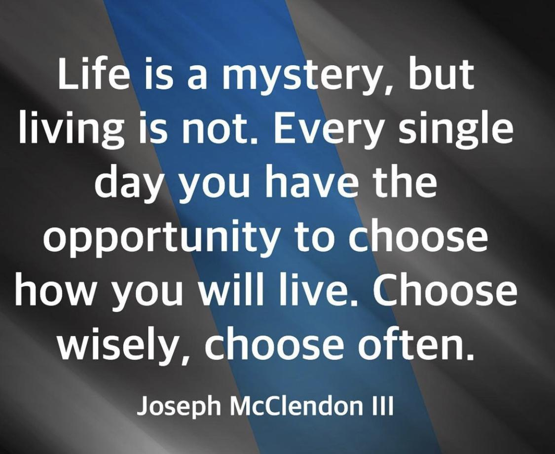 [Image] Choose wisely, choose often