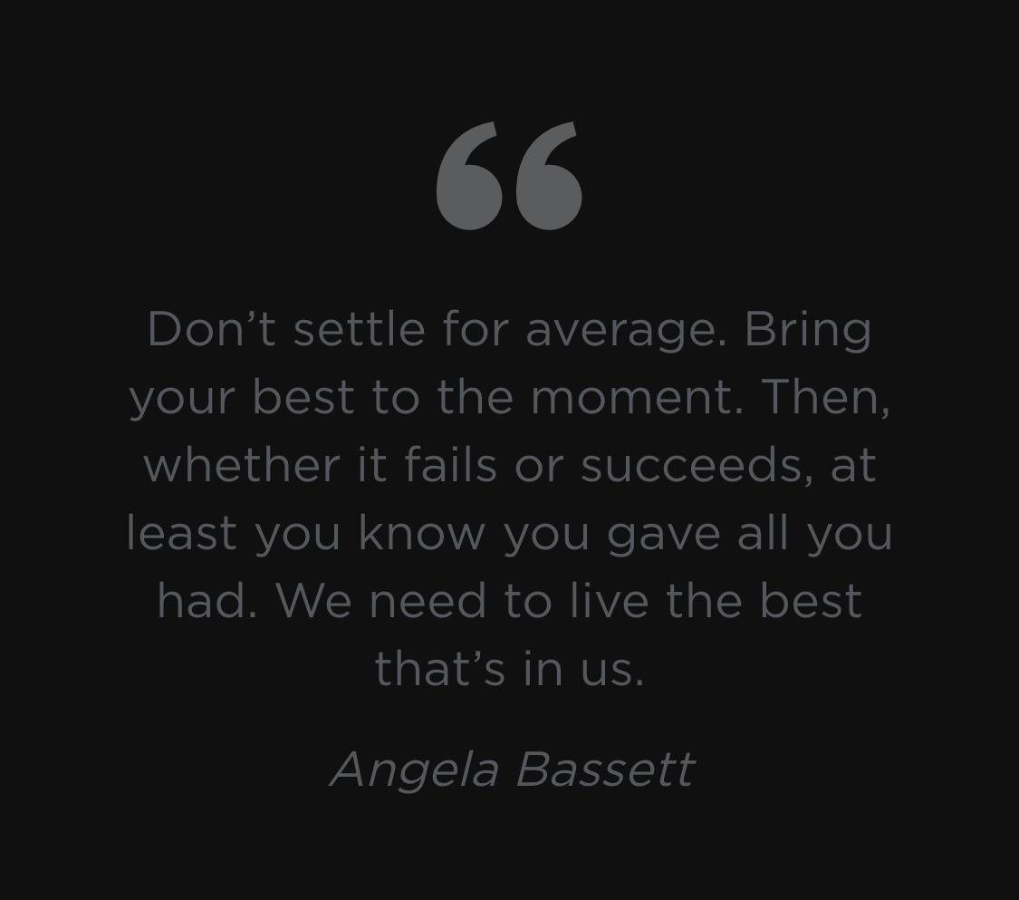 [Image] Don't settle for average
