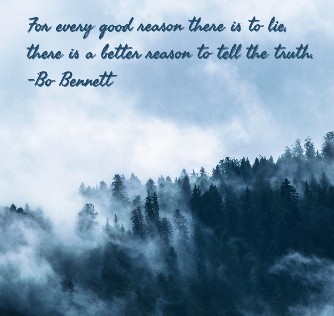 For every good reason there is to lie, there is a better reason to tell the truth. -Bo Bennett [1080×1019]