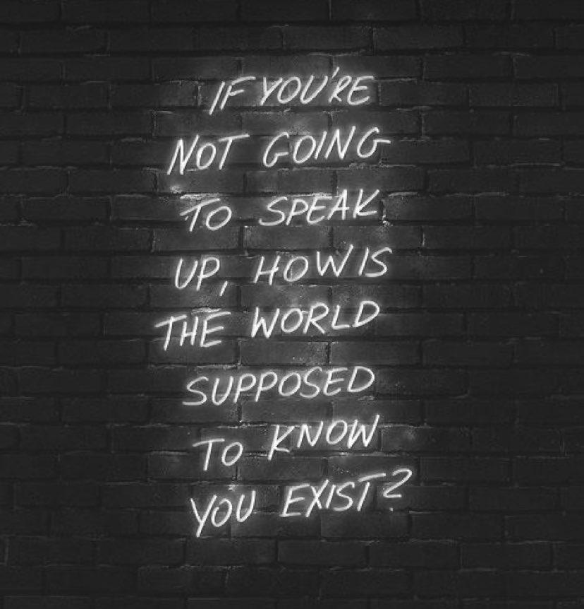 [Image] speak for the world