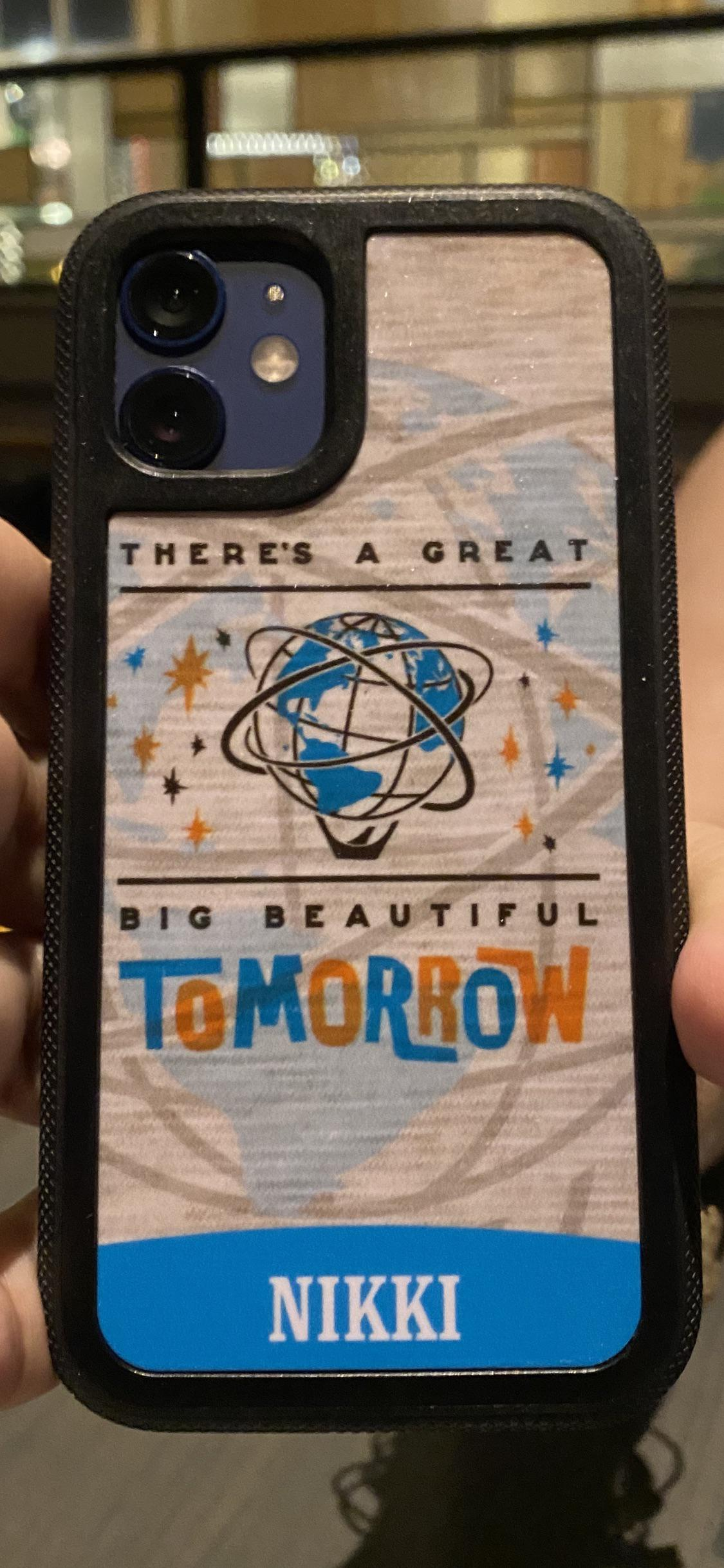 "[Image] Inspired by my favorite ride at Disney World, I got this phone case to remind me (mostly when I'm down) that there is in fact always ""a great big beautiful tomorrow""! Never forget that folks!"