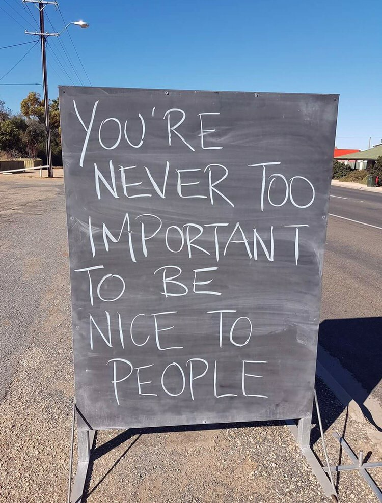[Image] Always be nice.