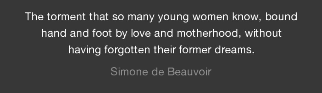 On Motherhood, Simone de Beauvoir. Happy Mother's Day [1080×312]