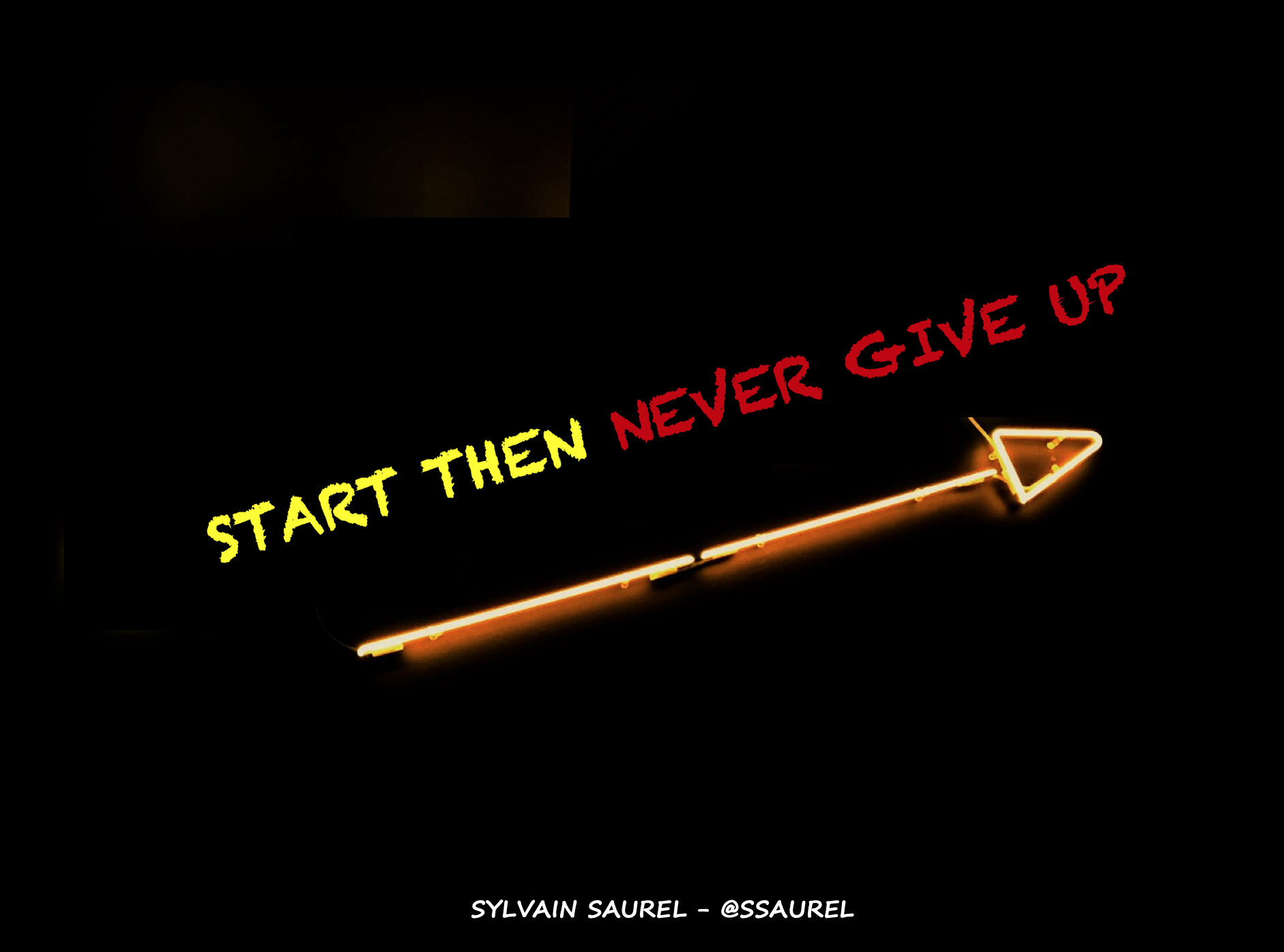 [Image] Start then never give up.