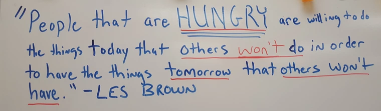 [Image] Teacher is using motivational quotes to try to inspire his students