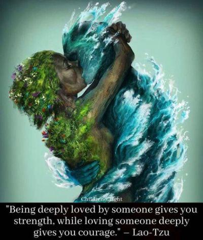 Being deeply loved by someone gives you strength, while loving someone deeply gives you courage — Lao Tzu [1280×1024] 📷ctto