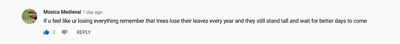 [image] Youtube comments can be inspiring sometimes