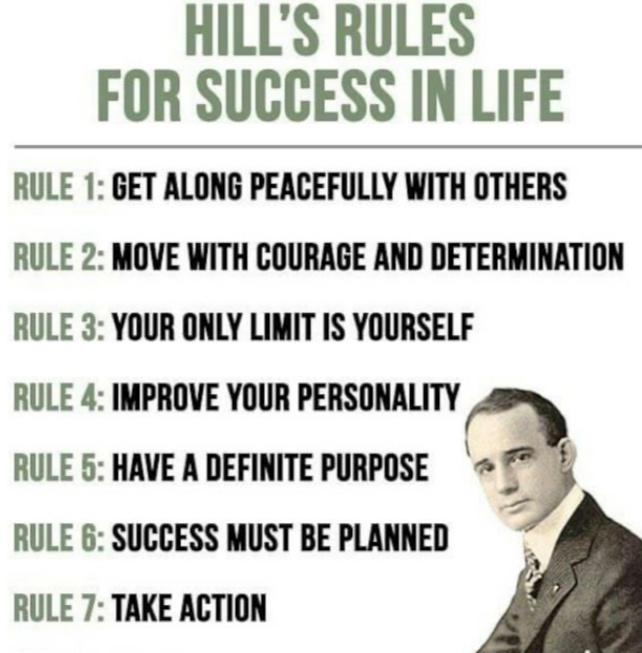 [Image] Napoleon Hill's Rules for Success