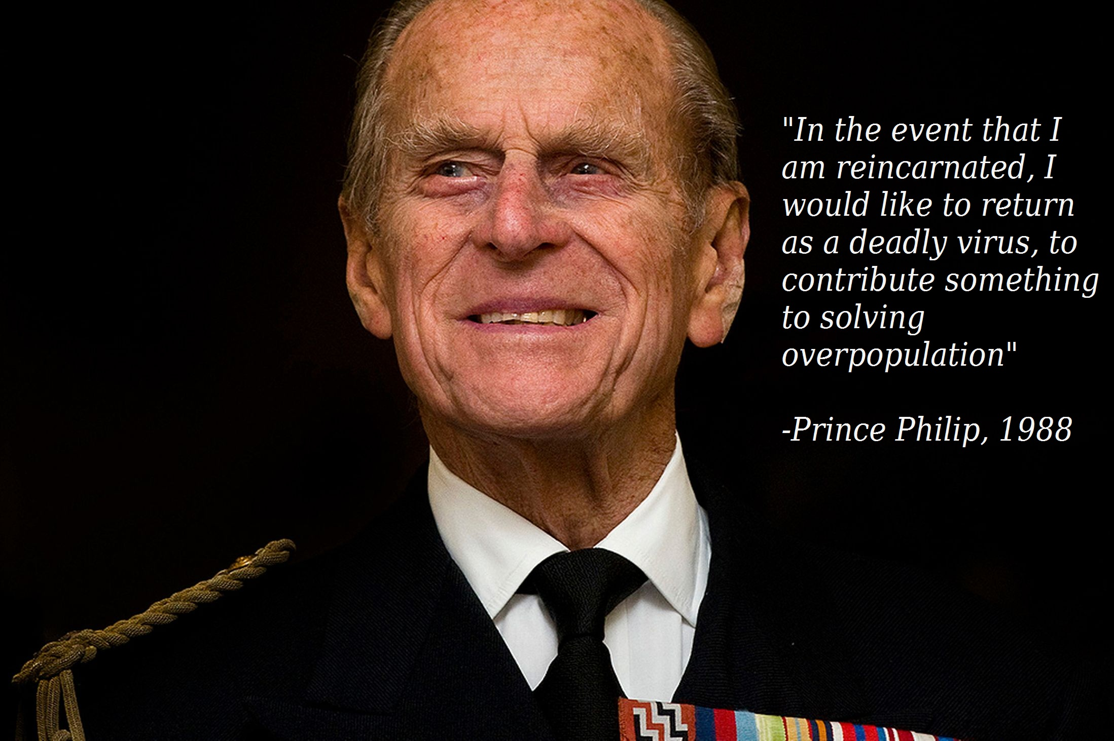 """""""In the event that I am reincarnated…"""" Prince Philip [2197×1463] (Repost from u/McWanghole 6 years ago.)"""