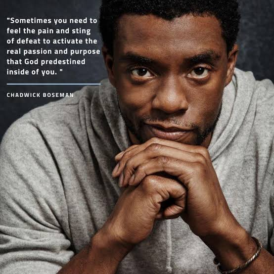 """""""Sometimes you need to feel the pain and sting of defeat to activate the real passion and purpose that God predestined inside of you. God says in Jeremiah, """"I know the plans I have for you, plans to prosper you and not to harm you, plans to give you hope and a future."""""""" ~Chandwick Boseman (960×960)"""