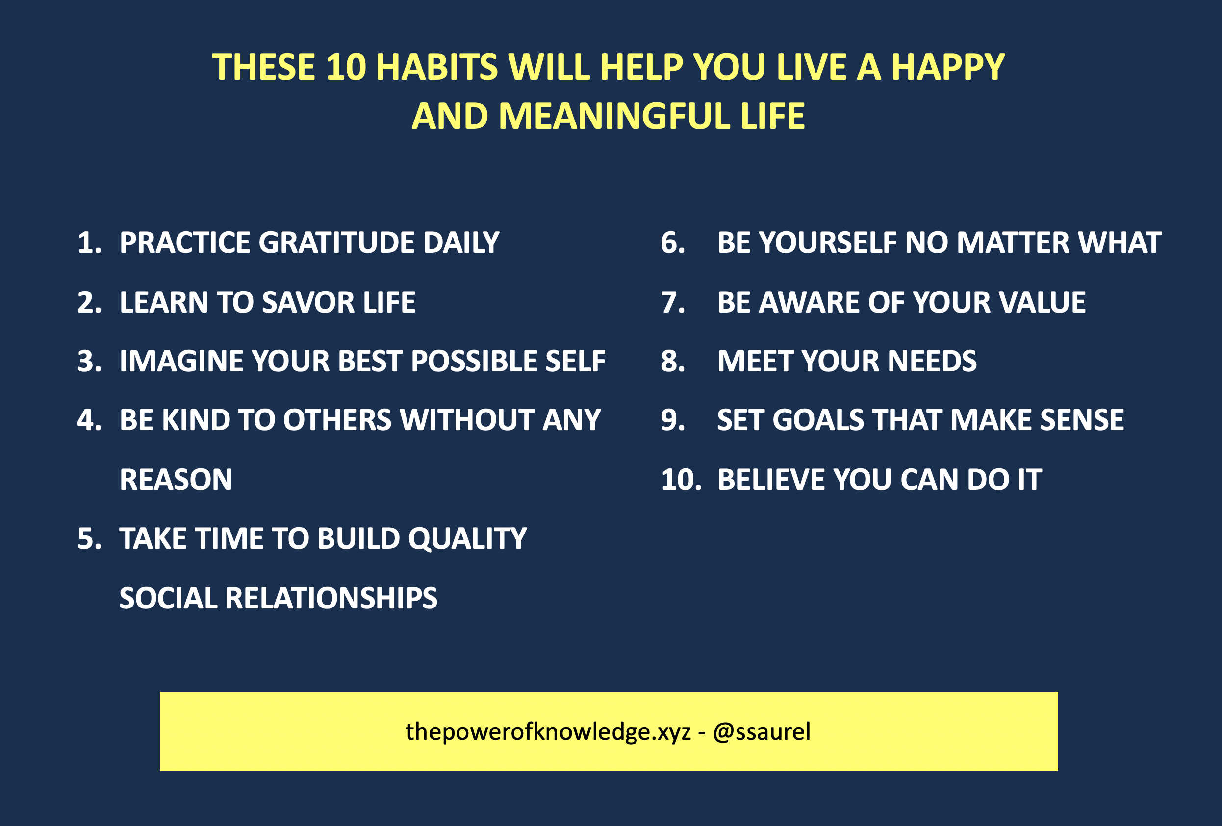 [Image] These 10 habits will help you live a happy and meaningful life
