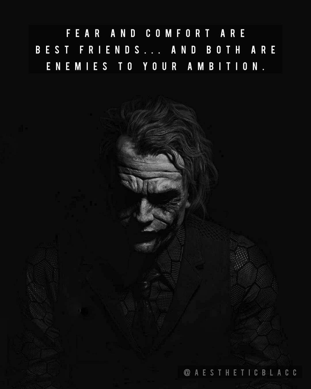 """""""Fear And Comfort Are Best Friends… And Both Are Enemies To Your Ambition"""" – @darkaestheticquotes [1080×1350]"""