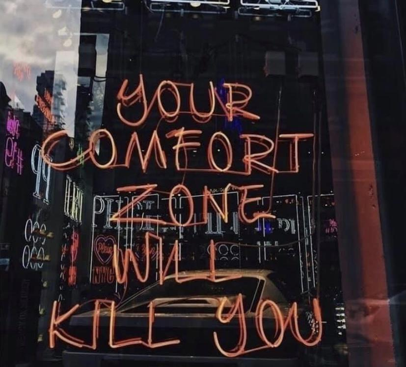 [Image] Your comfort zone will kill you.