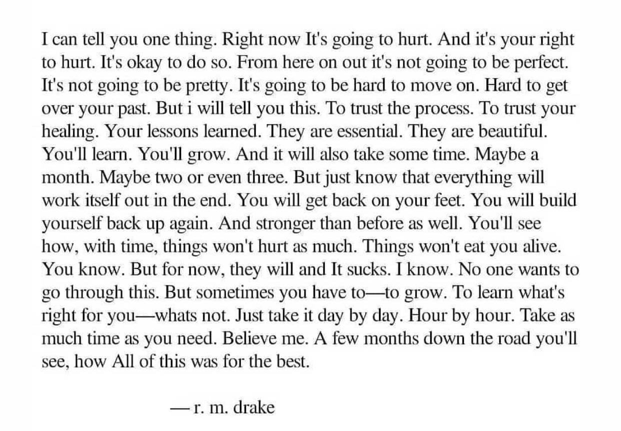 [Image] It's going to fucking hurt. Like nothing you've ever felt before. You'll survive it this time, just like you did last time and will again next time.
