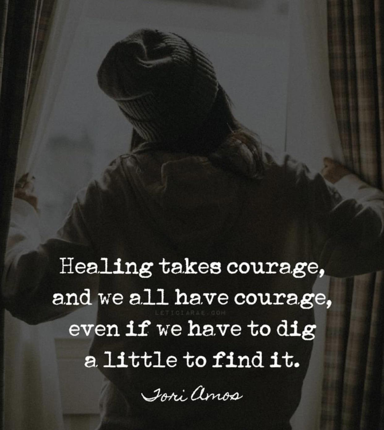 [Image] Courage. We all have it.