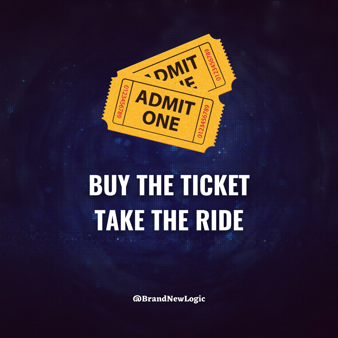 """""""Buy the ticket take the ride"""" – Hunter S. Thompson [1080×1080]"""