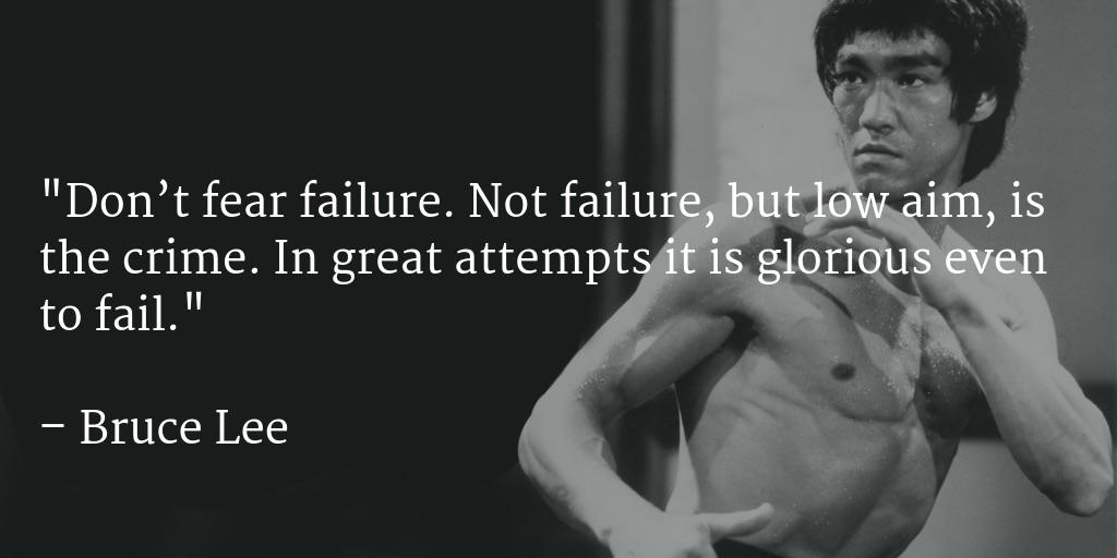 "[Image] The Bruce Lee variant of ""Go big or go home."""