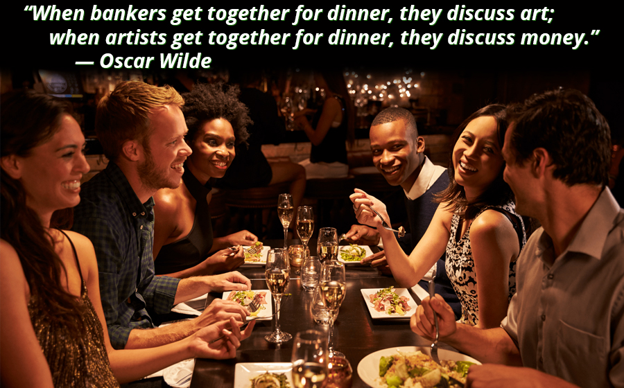 """""""When bankers get together for dinner, they discuss art; when artists get together for dinner, they discuss money."""" Oscar Wilde [900×560][OC]"""