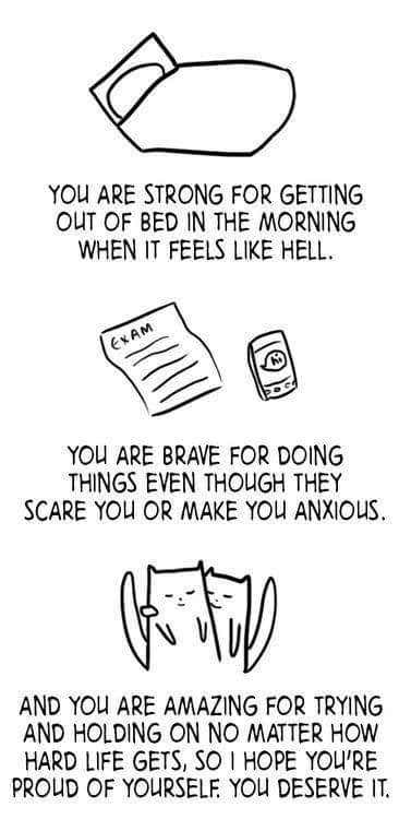 [Image] I'm proud of you. So be proud of yourself. Deep breath. You got this. Go.