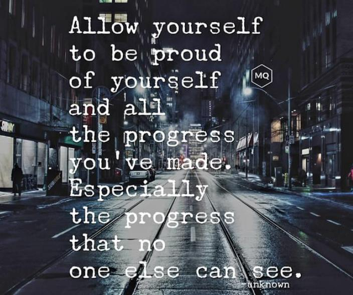 [Image] Be proud of yourself.