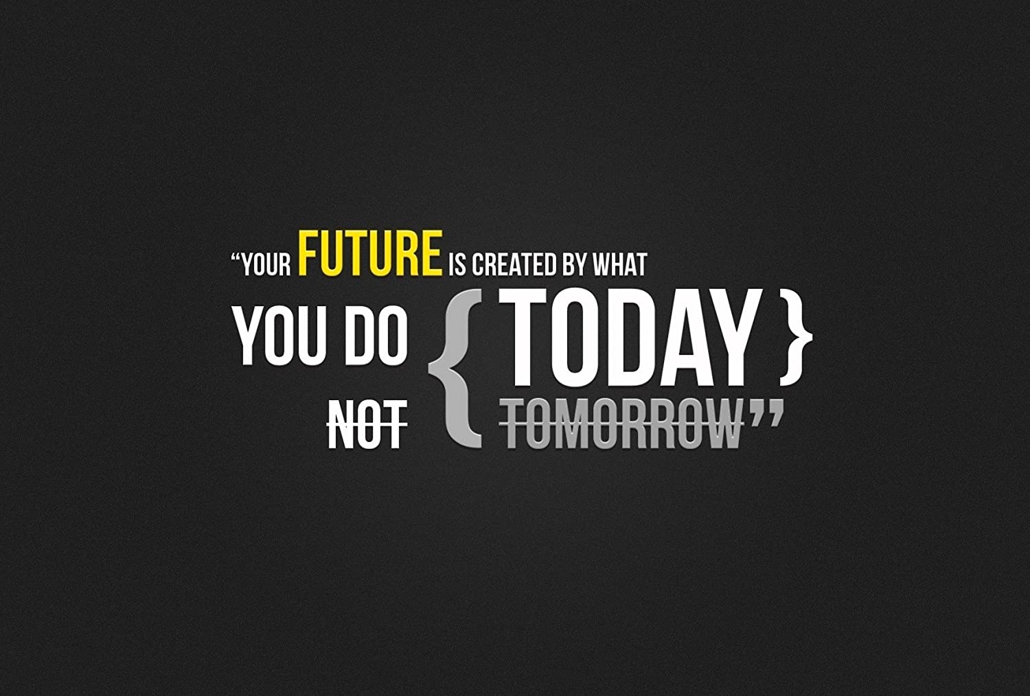 [Image] The future is created by what you do today, not tomorrow.