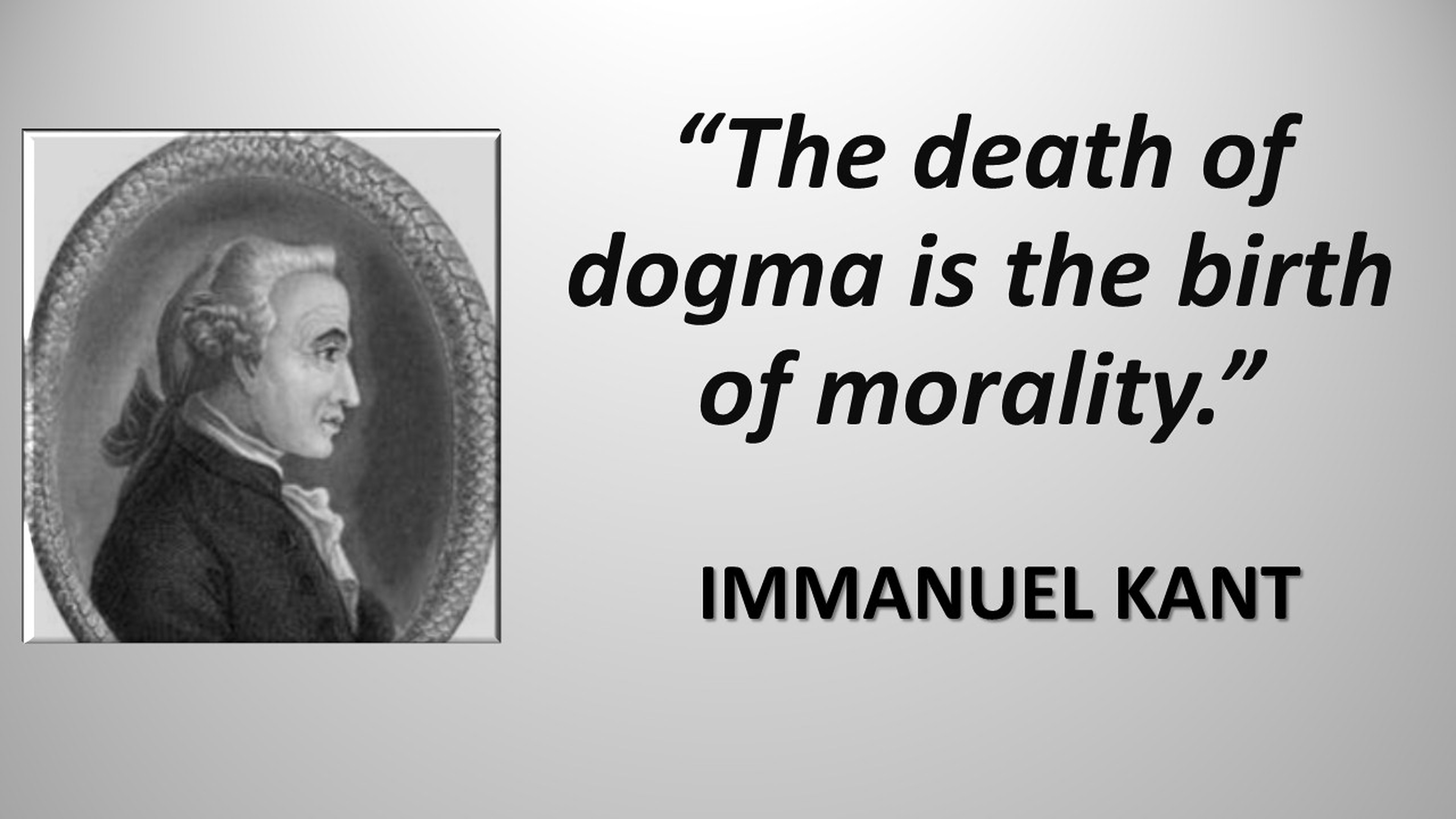 """""""The death of dogma is the birth of morality."""" ― Immanuel Kant [3840×2160]"""
