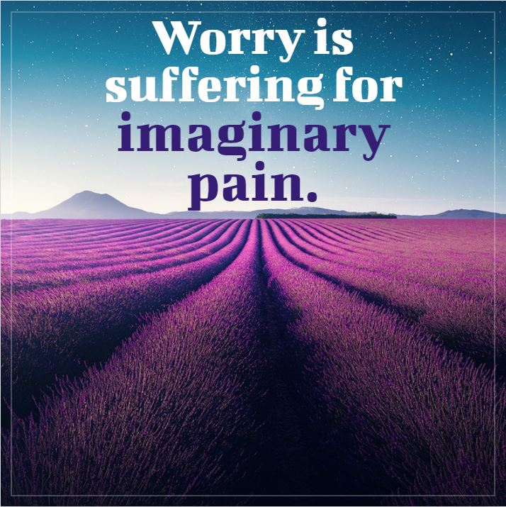 Worry is suffering for imaginary pain. – anon [714 x 715]
