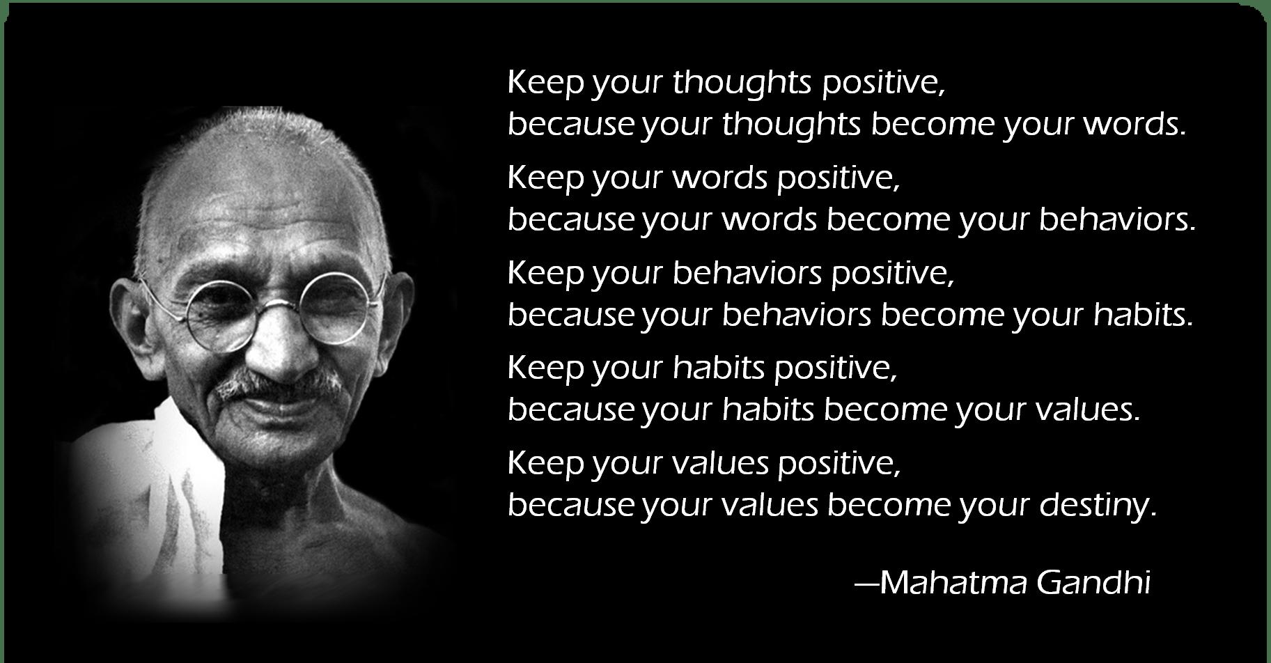 [Always Positive] Mahatma Gandhi (1825 x 952)