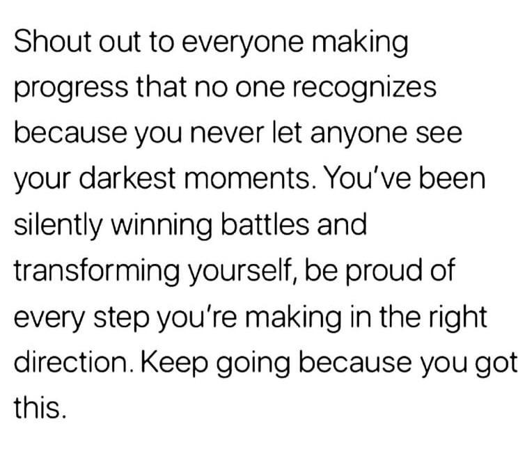 [Image] Be proud of yourself