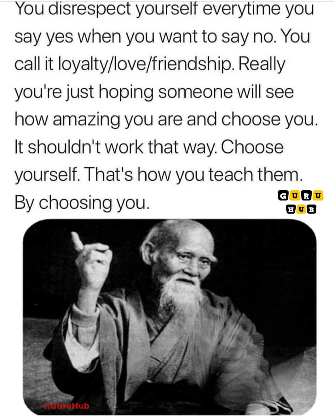 [IMAGE] Saying NO to things you don't want/like to do doesn't make you a bad person. Love, listen and respect yourself first!