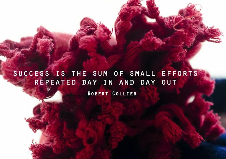Success is the sum of small efforts repeated day in and day out – Robert Collier [767×541]