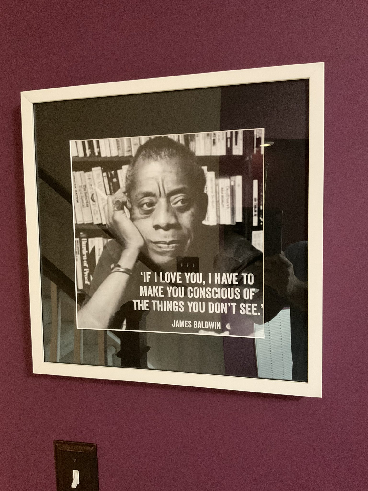If I love you, I have to make you consious of the things you don't see- James Baldwin. [1536×2048]