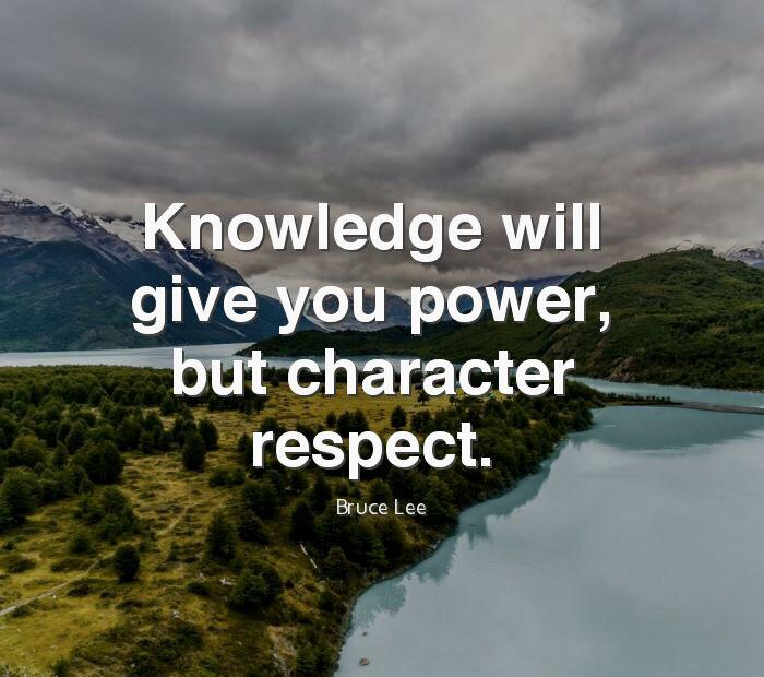 """""""Knowledge will give you power, but character respect.""""-Bruce Lee [720×720]"""
