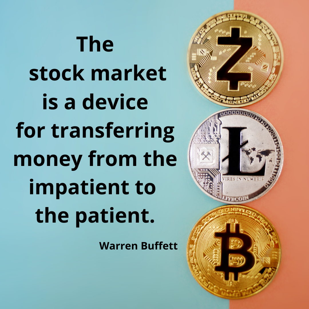 """""""The stock market is a device for transferring money from the impatient to the patient"""".-Warren Buffett[1080*1080]"""