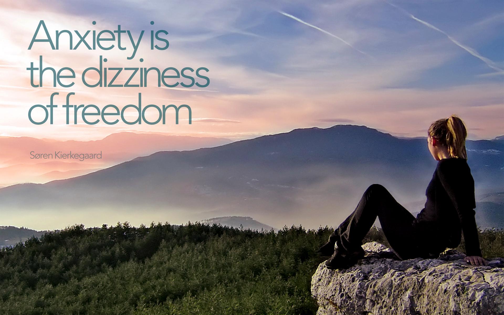 Anxiety is the dizziness of freedom. — Søren Kierkegaard [1920×1200]