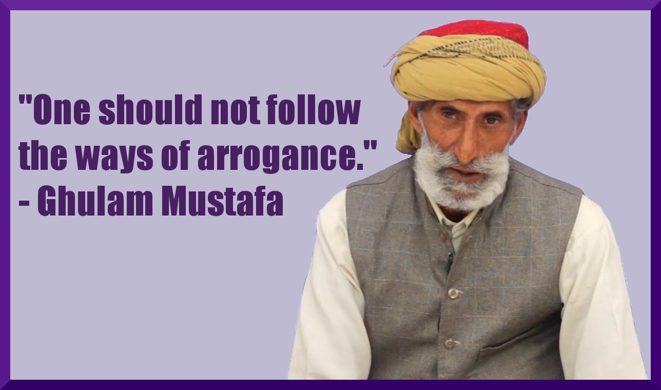 """One should not follow the ways of arrogance."" – Ghulam Mustafa [1288 x 760]"