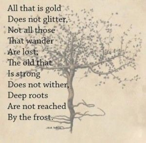 """""""All that is gold does not glitter…"""" J.R.R Tolkien [300×294]"""