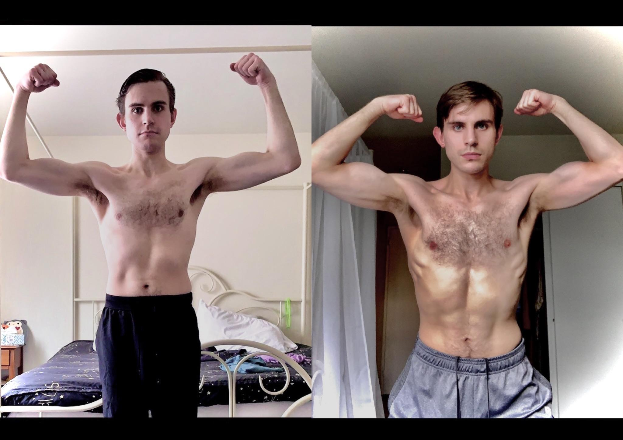 [Image] I started going to the gym in April for the first time in over a year and, for the first time ever, am actually seeing noticeable results!! I've never looked like this before and I'm super excited and happy and needed to share with folks! (Left: 4/20/2021-Right 6/18/2021)