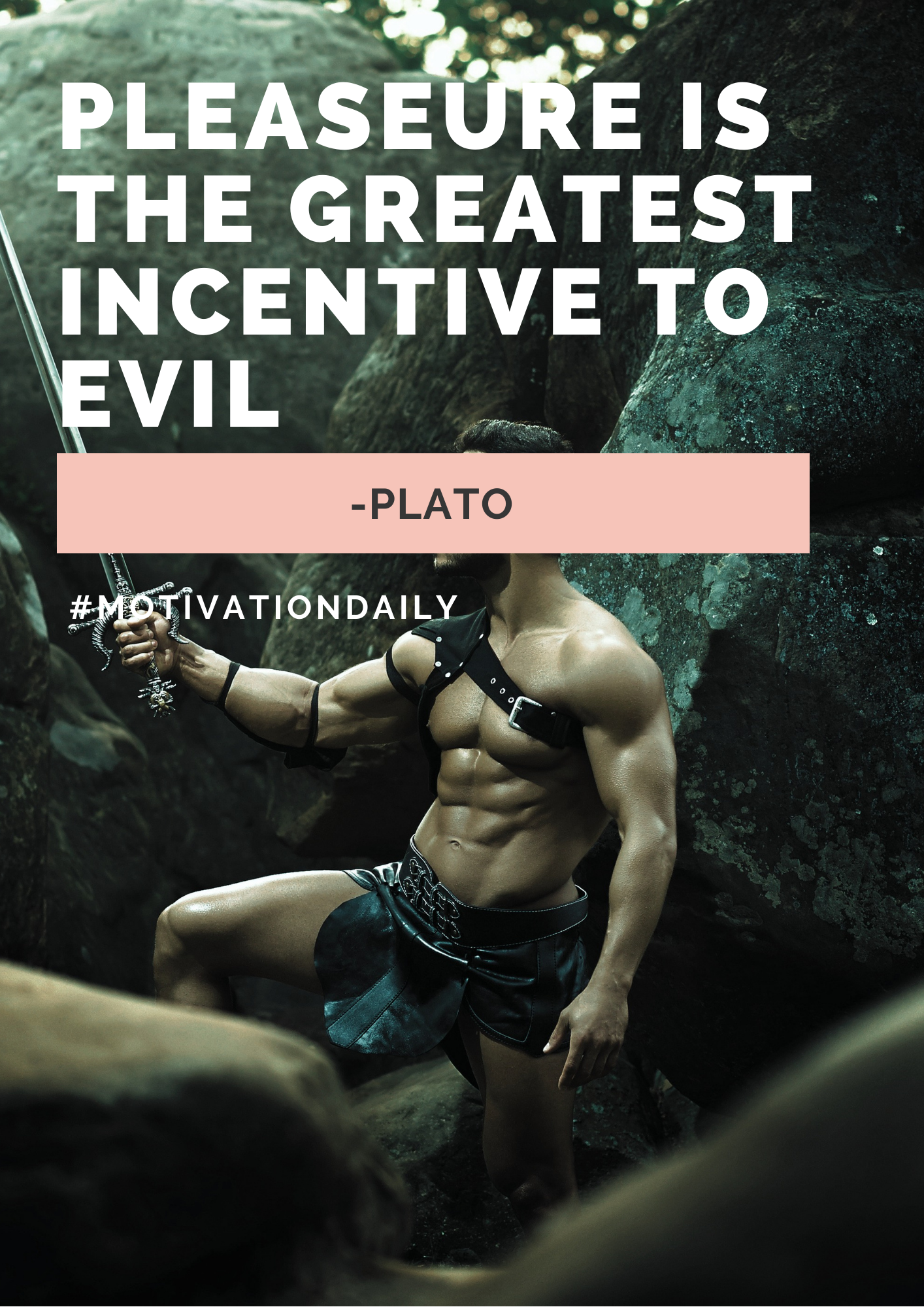 """The Greatest Incentive to Evil."" -Plato 1414 x 2000"