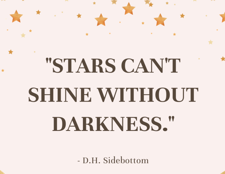 """[Image] """"Stars can't shine without darkness."""" ~ D.H. Sidebottom"""