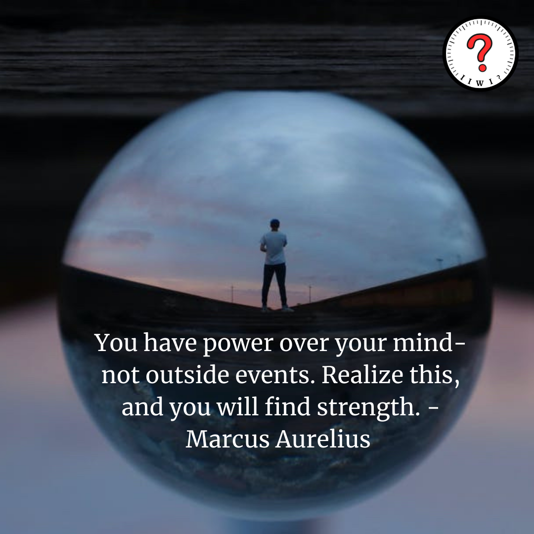 """""""You have power over your mind- not outside events. Realize this, and you will find strength."""" -Marcus Aurelius [1250 x 1250] IG: isitworthitinc"""