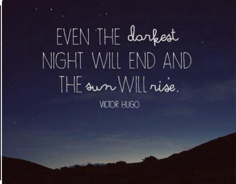 … And the Sun will rise. Les Misérables, published in 1862 by Victor Hugo.