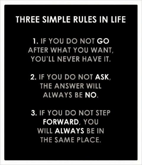 [Image] Three Simple Rules in Life