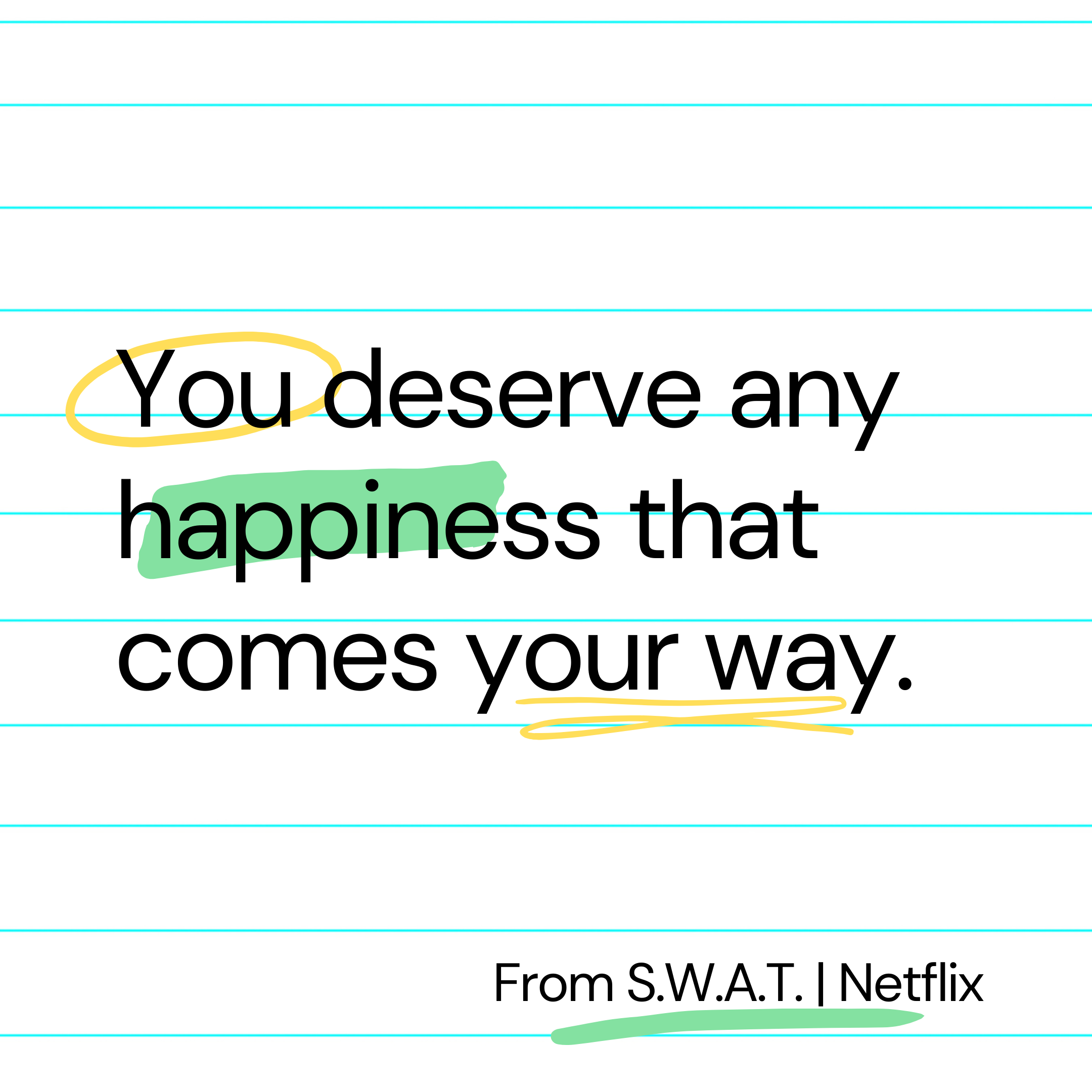 You deserve any happiness that comes your way | Hondo from S.W.A.T. at Netflix [2160×2160]