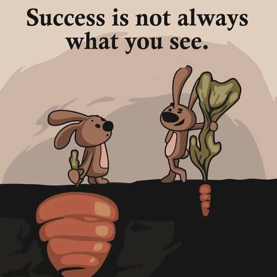 [Image] Success is not always what you see!