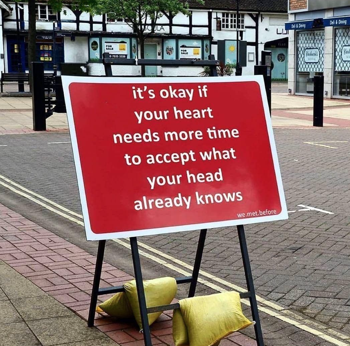 [Image] It's okay if your heart needs more time to accept what your head already knows.